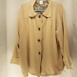 New Tan Suede Light Weight Jacket Women's 2x